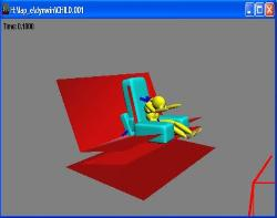 Simulation of child seat on a sled